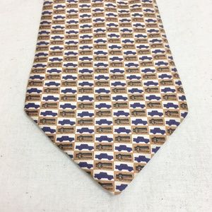 Banana Republic Silk Tie Cars And Wrenches